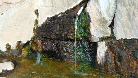 the hot spring source to fill your water (Deep Creek)